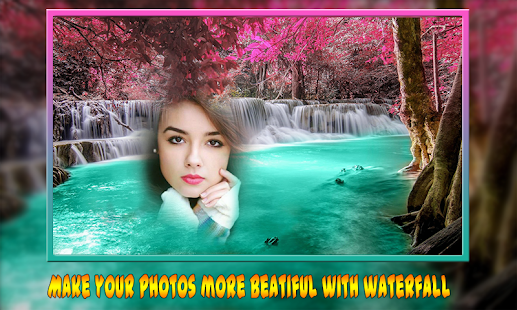 Waterfall Multi Collages Photo Frame–HD Background - náhled