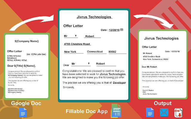 Fillable Document Google Docs Add On