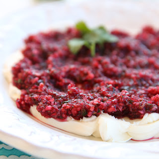 Fresh Cranberry Salsa with Cream Cheese Dip