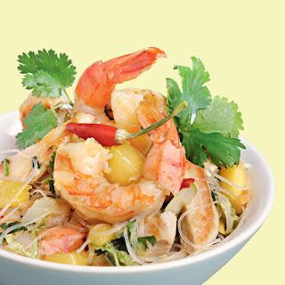 Thaipfanne mit Koriander-Glasnudeln