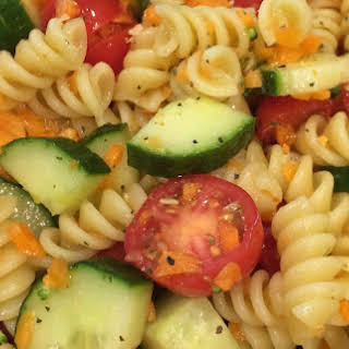 Colorful, Healthy Pasta Salad.