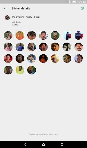 Malayalam Stickers for WhatsApp - WAStickerApps screenshot 7