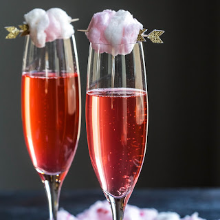 Sparkling Pink Limeade with Champagne Cotton Candy.