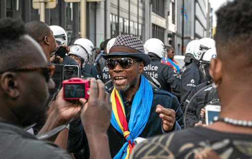 Free the DRC: The Congolese diaspora organised a march in the streets of Brussels to ask for free elections. Picture: GETTY IMAGES