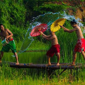 Water boarding by Deny Satria - Babies & Children Children Candids ( #village #westjava #indonesia )