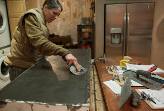 Photo: Troweling a smooth surface.
