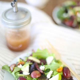 Summer Salad with Raspberry Vinaigrette.
