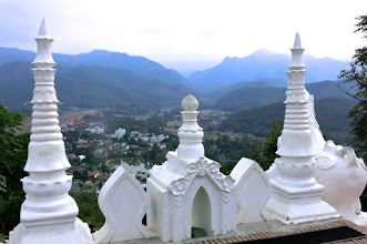 Photo: view of Mae Hong Son town from the hilltop temple