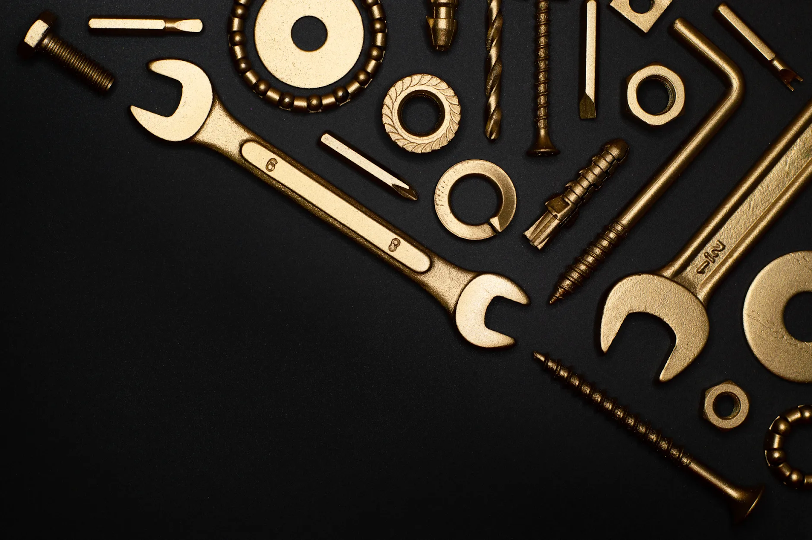 A black background with golden tool is part of the clickfunnels and unbounce article