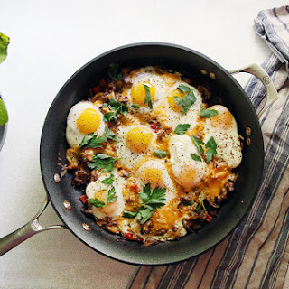 One-Pan Baked Sausage and Eggs
