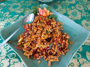 Photo: Tempe Me Goreng (deep fried tempe in sweet soy sauce)  https://docs.google.com/file/d/0B1bus_HlRM7rQ0FzemhvWERHUk0/edit