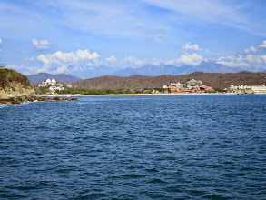 Photo: Tangolunda Bay, site of the resort hotels. We stayed here in 2006.
