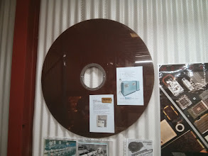 Photo: An ancient magnetic disk.