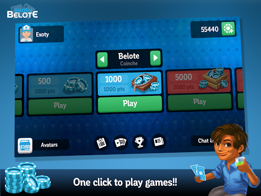 Multiplayer Belote & Coinche android2mod screenshots 9