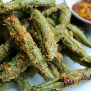 Crispy Flax Green Bean Fries.