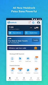 Mobile Recharge,Bill Payments,UPI & Money Transfer 15.4