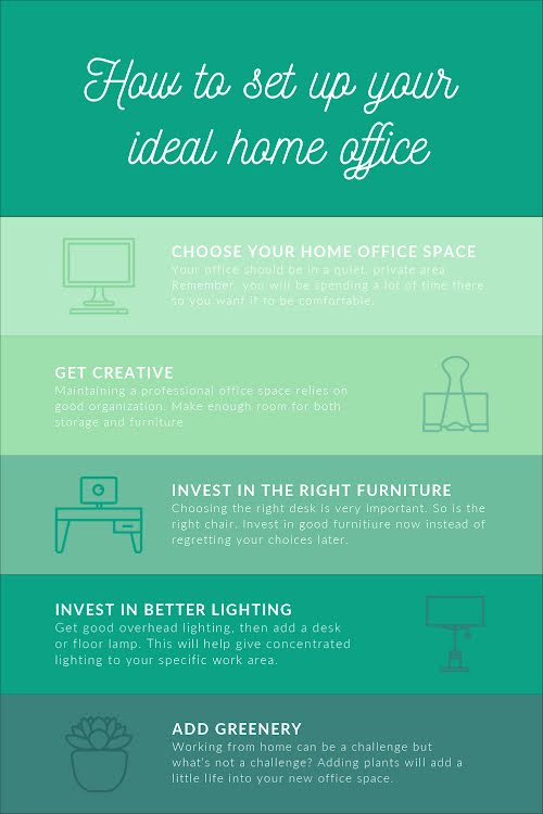 Your Ideal Home Office - Pinterest Pin Template