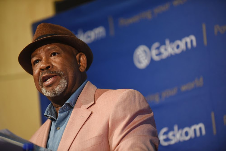 Eskom chairman Jabu Mabuza at the company's results presentation at its Megawatt Park offices in Johannesburg on January 30 2018. Picture: FINANCIAL MAIL