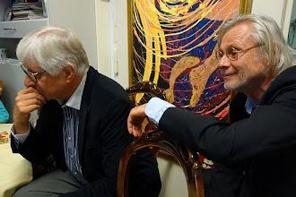 Photo: LIVE PERFORMANCE Vladimir Kiseljov am 4.9.2014. Dr. Klaus Billand und der Präsident des Richard Wagner-Verbandes Budapest. Foto: Peter Skorepa