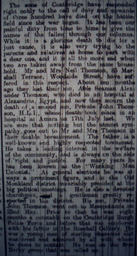 John Thomson newspaper clipping