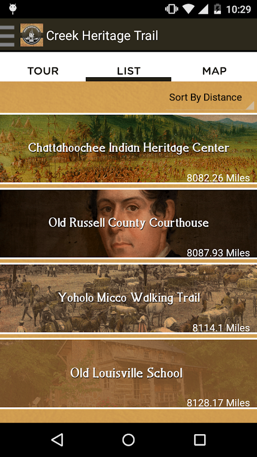 Creek Heritage Trail- screenshot