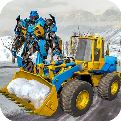 Snow Excavator Crane Robot Transformation Game
