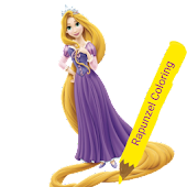 coloring book:rapunzel