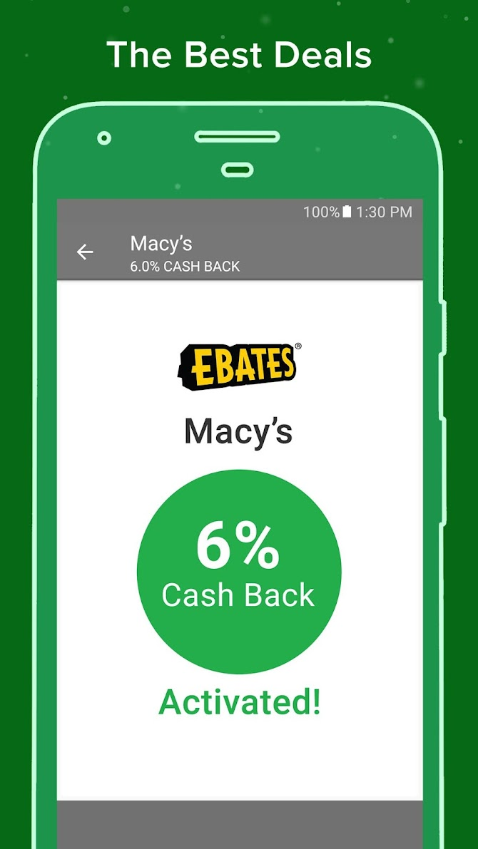 Ebates: Cash Back Rewards, Coupons & Promo Codes Android 4