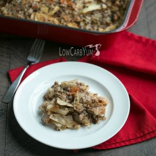 Unstuffed Cabbage Roll Bake