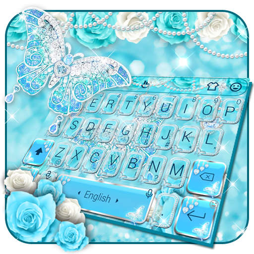 Rose Blue Diamond Butterfly Keyboard Android APK Download Free By Bs28patel
