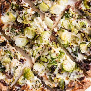 Brussels Sprouts Pizza with Balsamic Red Onions Recipe