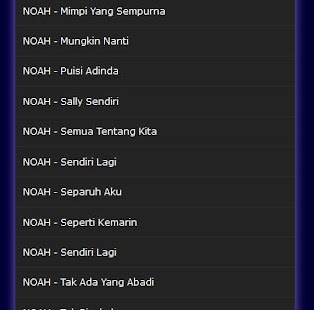 All Songs NOAH band mp3 - Android Apps on Google Play
