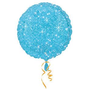 Folieballong, glittrig blå