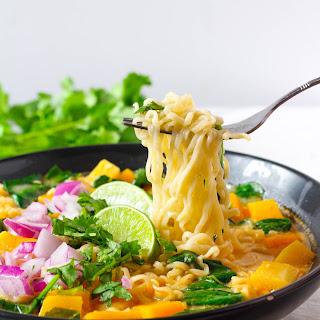 Thai Curry Ramen Noodle Soup