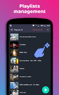 Night Video Player - voice amplifier Screenshot