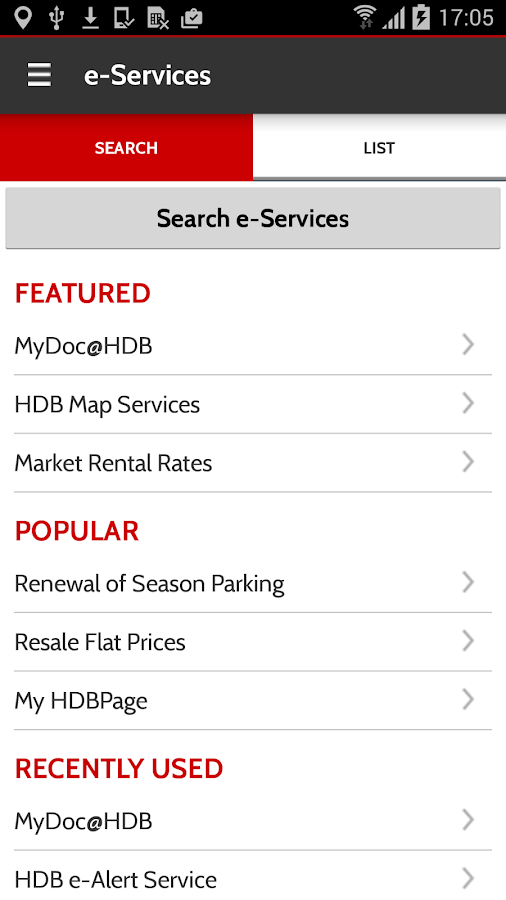 Mobile@HDB- screenshot