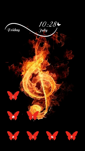 Music Note as Fire Theme