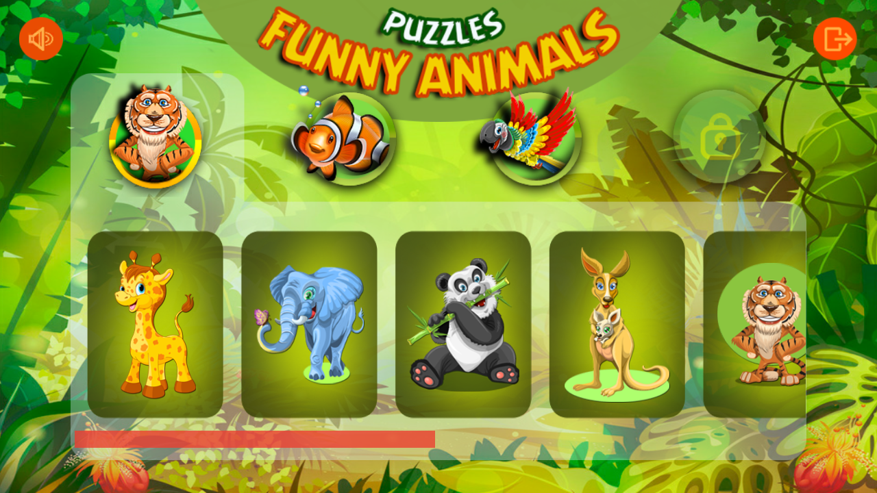 Baby puzzles: Funny animals- screenshot