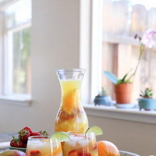 Tropical White Sangria (naturally sweetened).