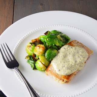 Seared Salmon with Creamy Pesto Sauce