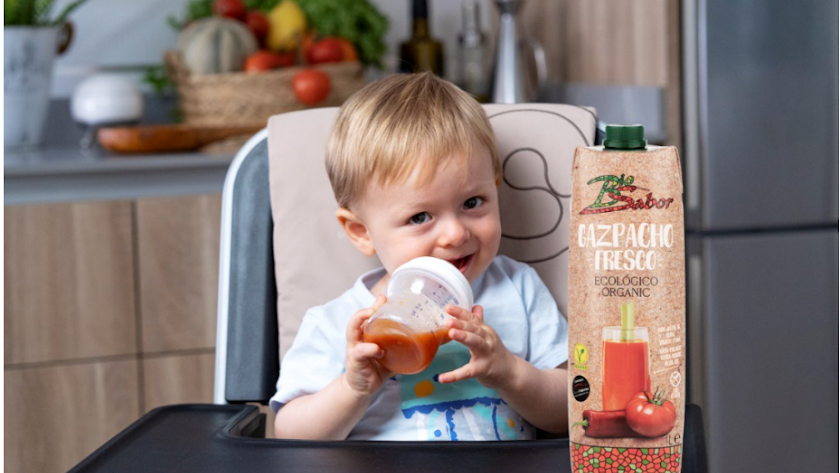 Campaña protagonizada por su mejor producto, el Gazpacho Fresco Biosabor y Bruno.