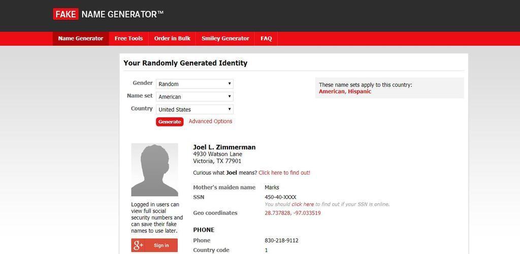 Fake name generator 1 0 Apk Download - com