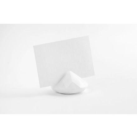 Placeringskortshållare Diamant - vit