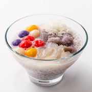 Taro Coconut Sago Rainbow Mochi (Chilled or Warm)