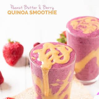 Peanut Butter & Berry Quinoa Smoothie.