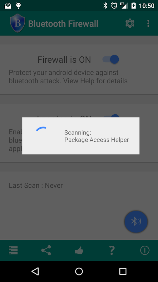 Bluetooth Firewall- screenshot