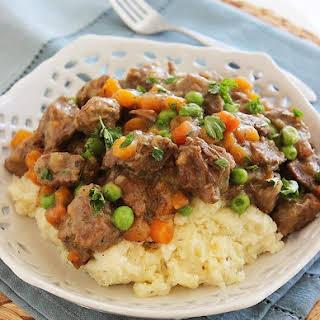 Irish Beef Stew with Mashed Potatoes.