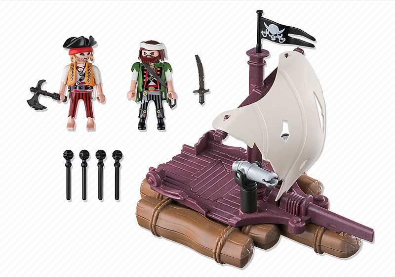 Contenido Real de Playmobil® 6682 Balsa Pirata