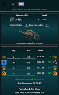 A-Calc taming calculator for Ark Survival Evolved- screenshot thumbnail