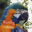 Fluffy Colors: Color by Number icon